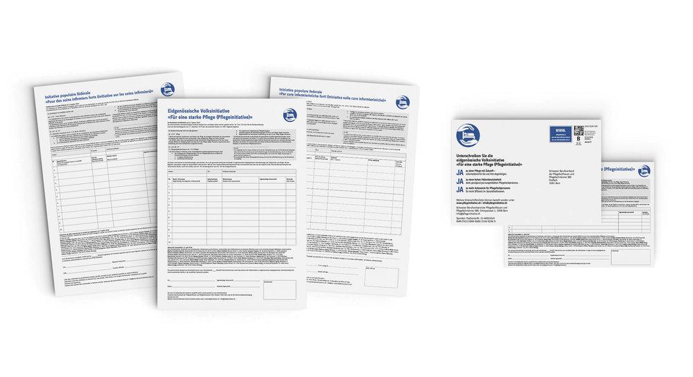 Unterschriftenbogen und Unterschriftenkarte