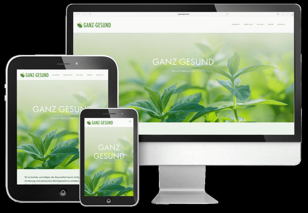 webdesign durch 720 grad schaffhausen für ganz gesund