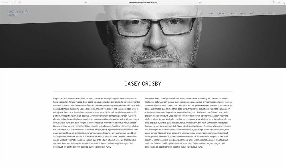 Caseys neue Website ist am Entstehen und wird demnächst aufgeschaltet.