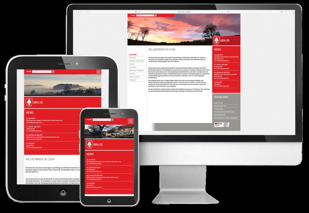 responsives webdesign lohn durch 720 Grad GmbH Schaffhausen / Thayngen
