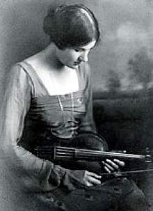 Rebecca Clarke with viola