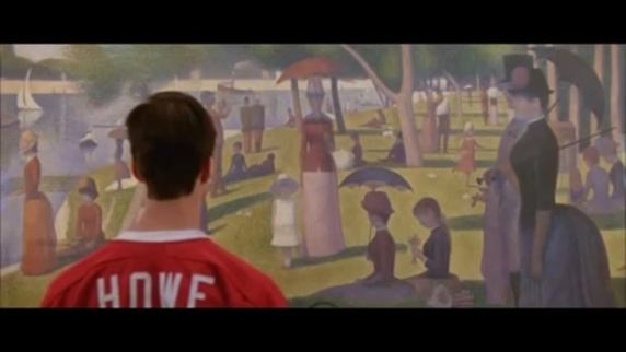 The famous scene in Ferris Bueller's Day Off. Cameron stares at details and ends up seeing nothing.