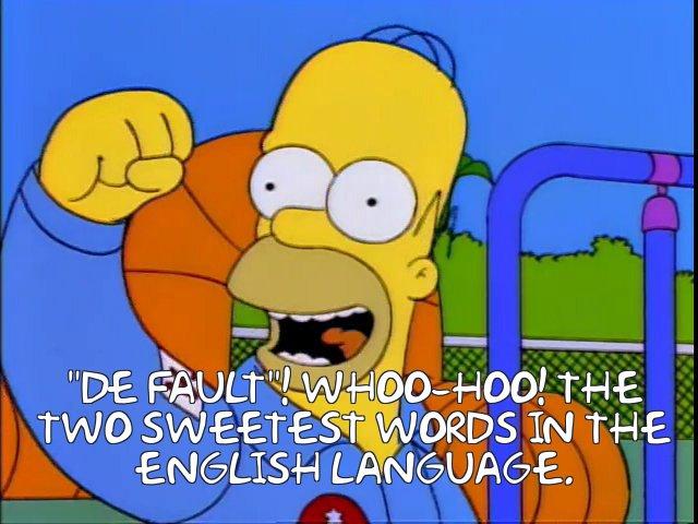 Homer Simpson winning the NASA astronaut contest by default. Courtesy  Frinkiac