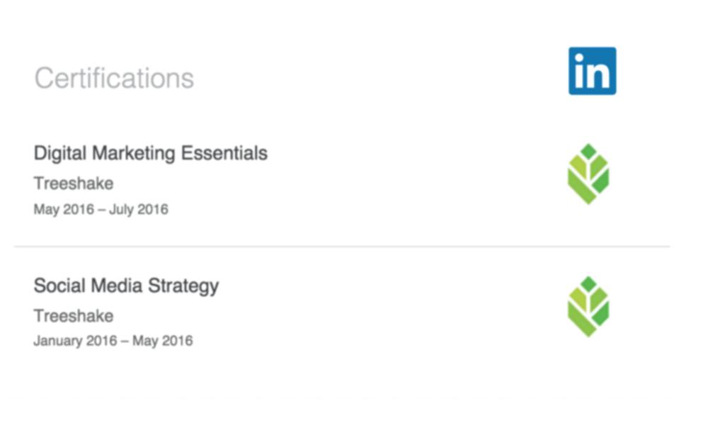 Treeshake LinkedIn Badges