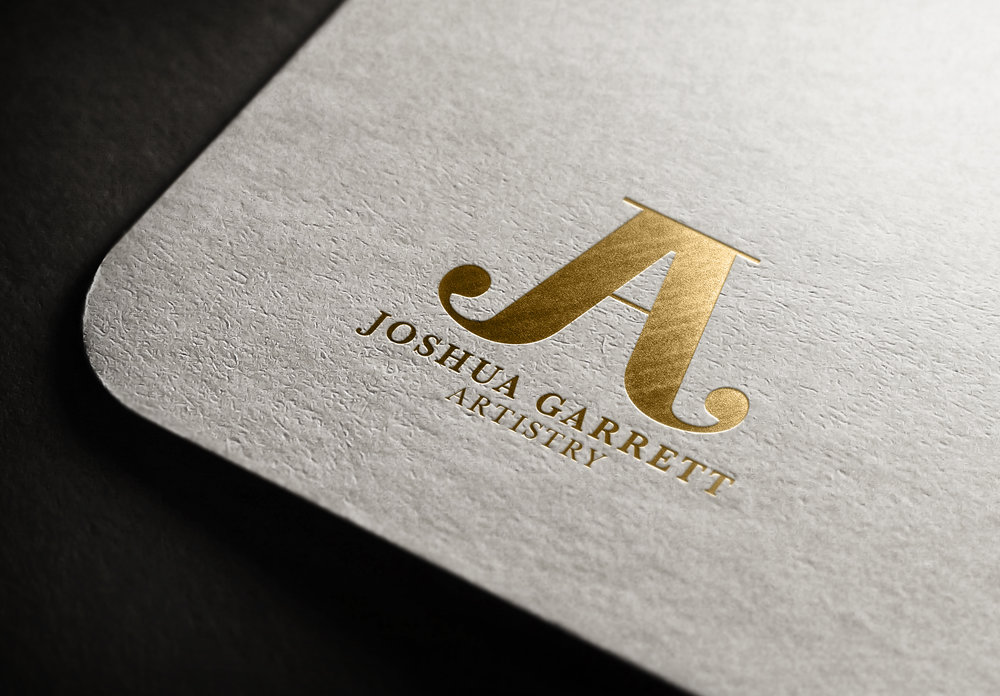 logo design gold foil