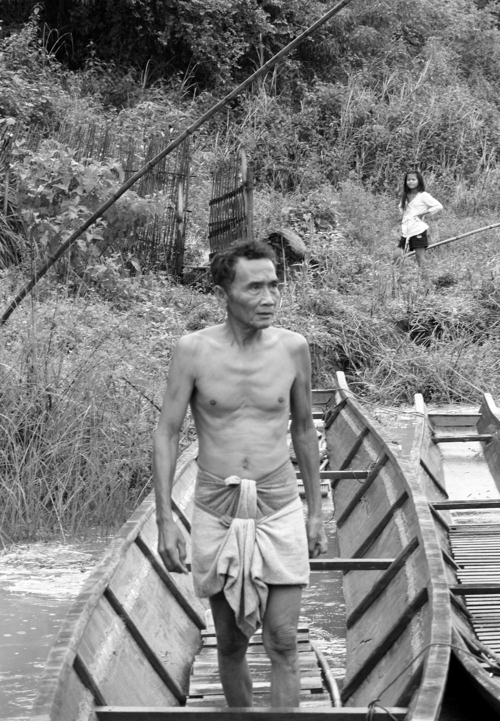 Man on Boat, Laos