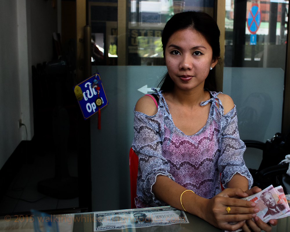 Bank Teller in Laos
