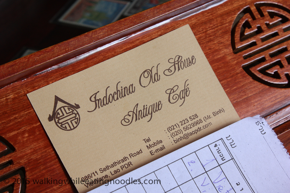 click through for the address of the shop & cafe in Vientiane