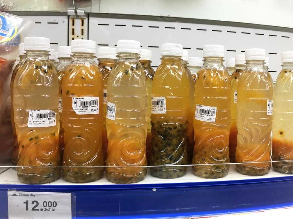 Passion Fruit Juice in the Store