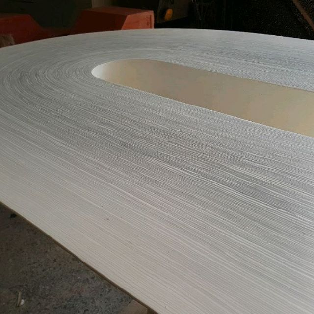 Finishing this large #cast #jesmonite dining table . . . #fabrication #layered #interiordesign #furniture #table #ldnmouldmakers #london #essex #studio #furnituredesign #instadesign #luxury #decor #interiorinspiration #gradient #homeinspo #monday #grey #cream #white