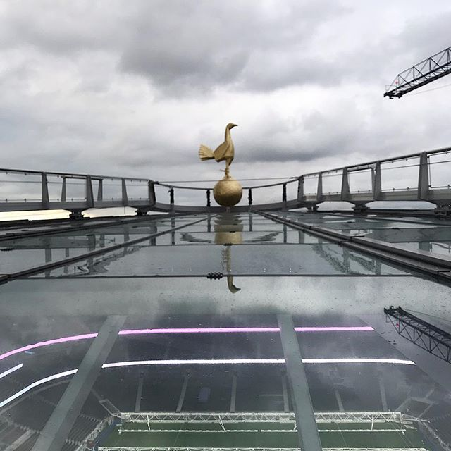 The Golden Cockerel installed and looking happy back at White Hart Lane. A huge thank you to all that helped us along the way!  #tottenham #tottenhamhotspur #spurs #cockerel #whithartlane #coys