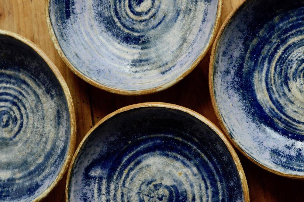 Stoneware pasta bowls