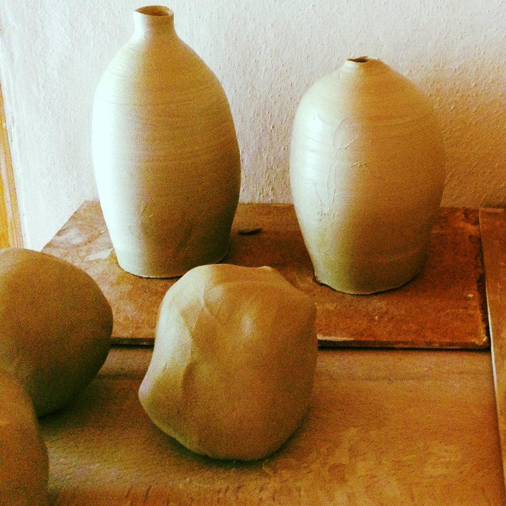 pit-fired ceramics -