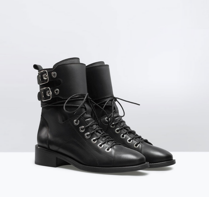 Zara Army Boot