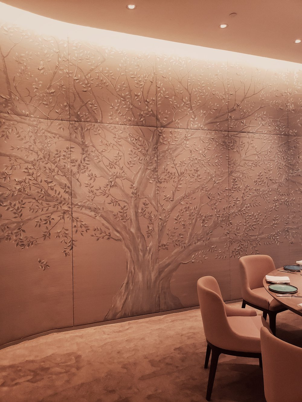 A closer look at the art within the wallpaper.