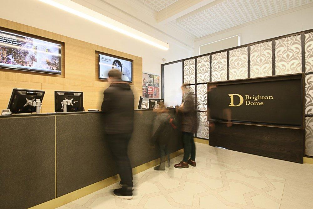 Brighton Dome Ticket office interior design desk