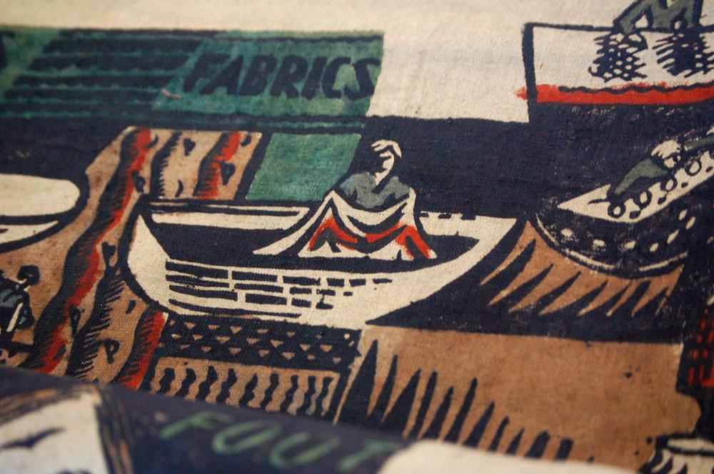Footprints Textiles Studio Print