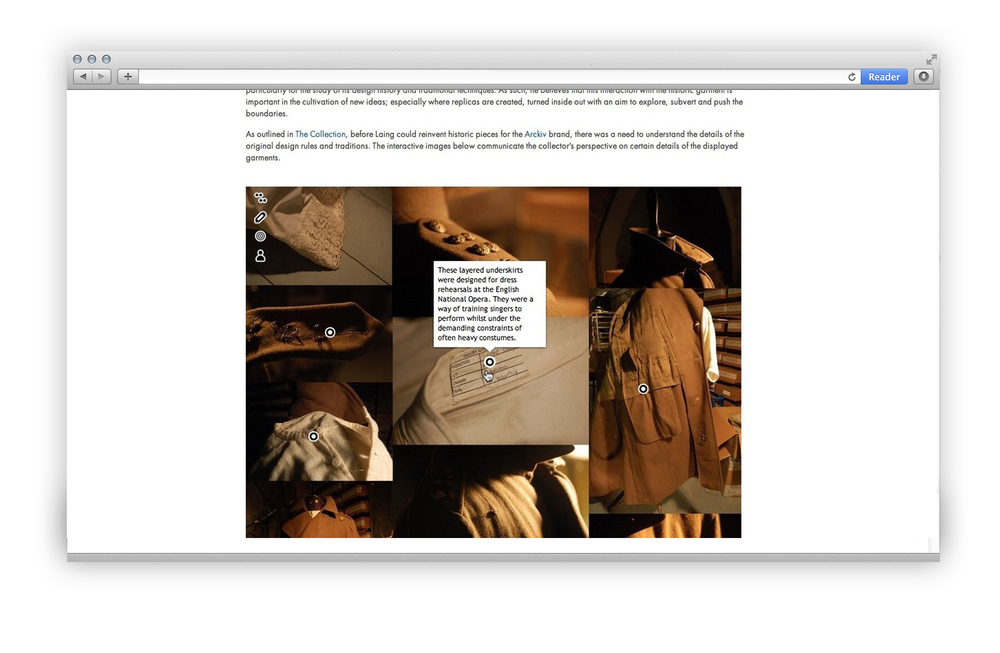 Fashion Curation '13 - Online component - tagging