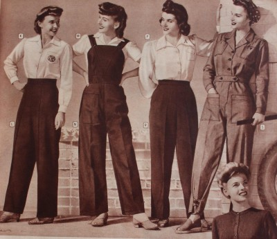 1943 advert for women's workwear