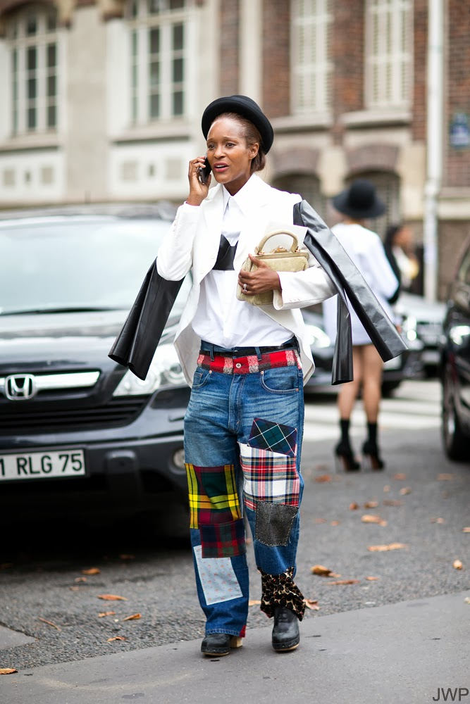 Contemporary street style - Junya Watanabe patchwork denim