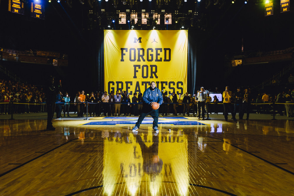 Michigan x Jordan Launch