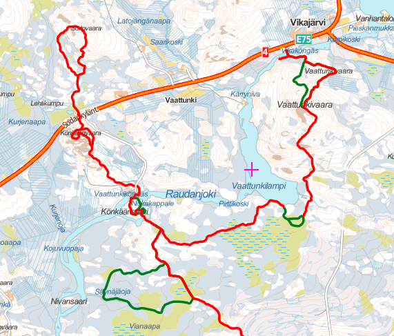 Map of Arctic Circle Hiking Area trails