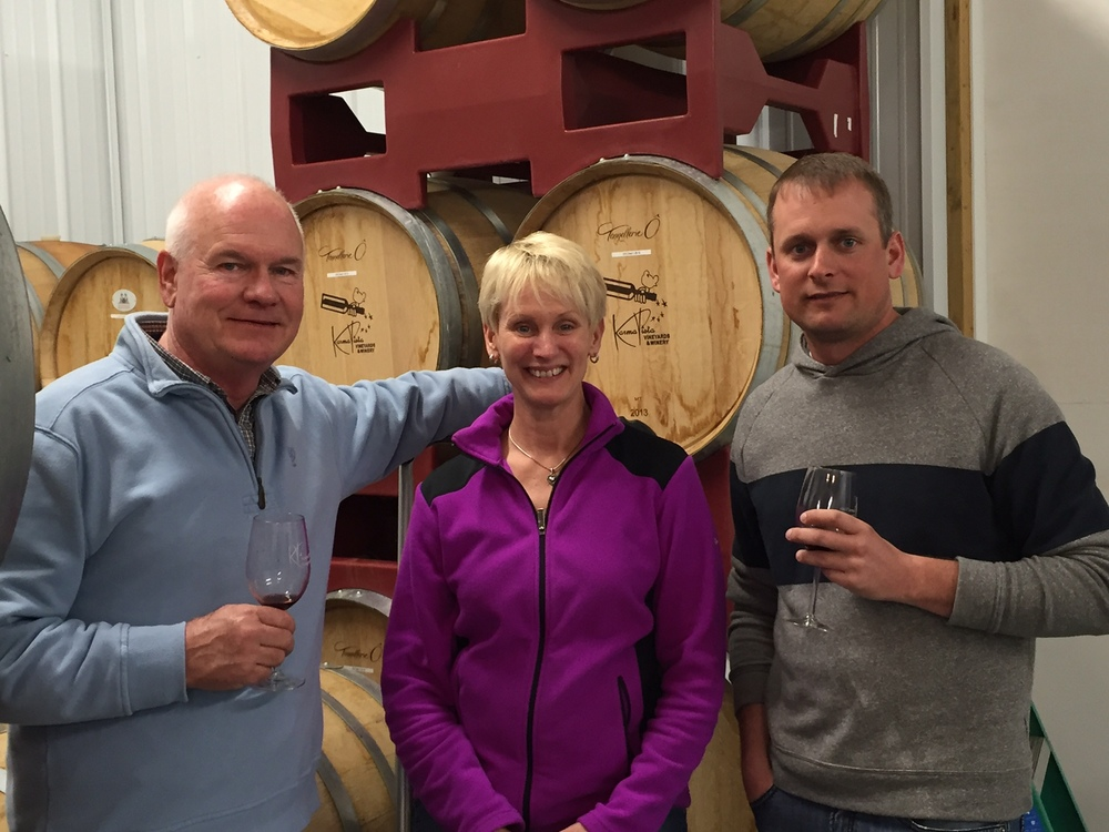 winemaking requires constant vigilance...work, work, work for Sue and I and our son Keith