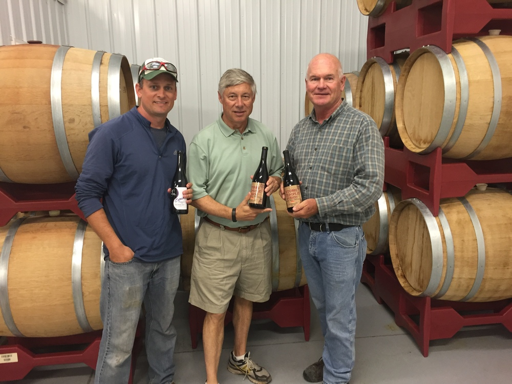 Our favorite Congressman, Fred Upton, congratulates us on our newest Gold Medal winners from the 2016 Michigan competition.   Stone Temple Pinot (Pinot Noir 2013) and 2014 Reserve Syrah.  Every major party I've ever known, and several minor ones, have always been better with wine.