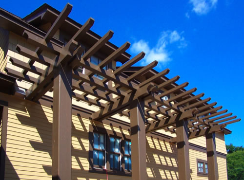 Heavy Timber Porch Canopy