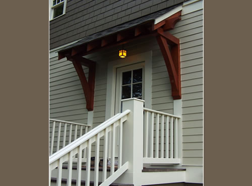 Exposed Beam Porch Canopy
