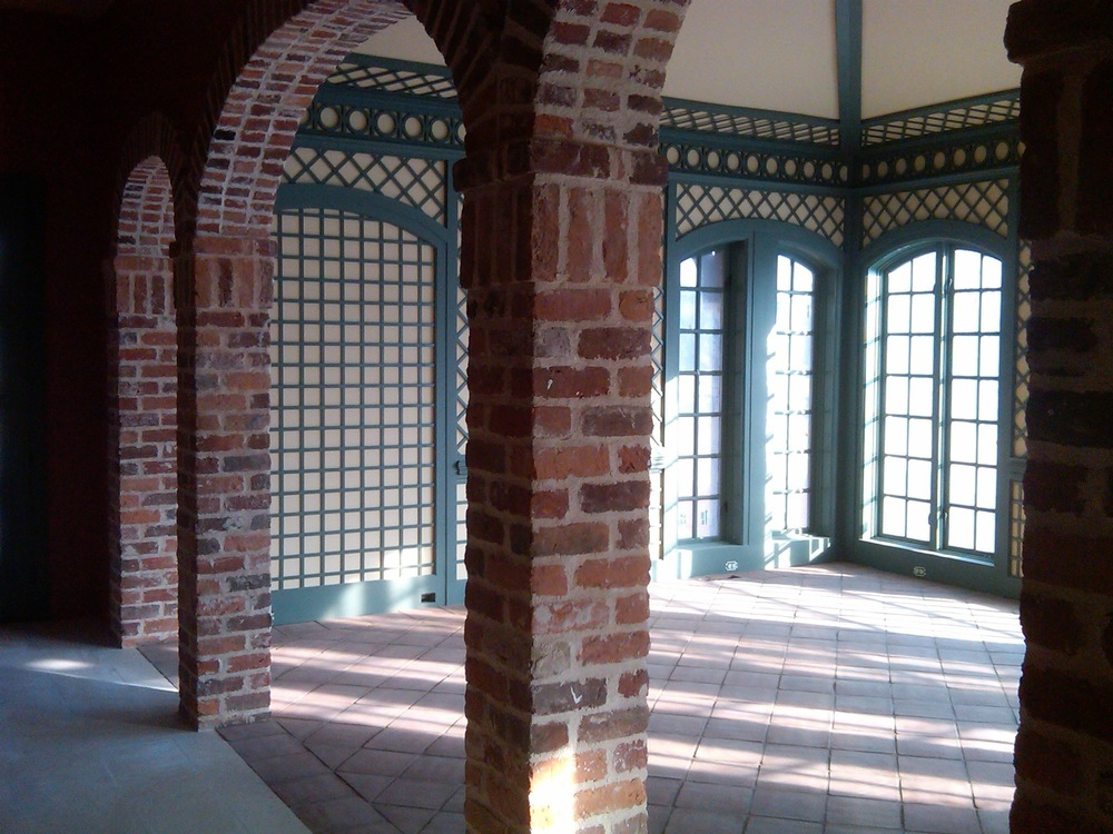 Reclaimed bricks used in arches in residential space