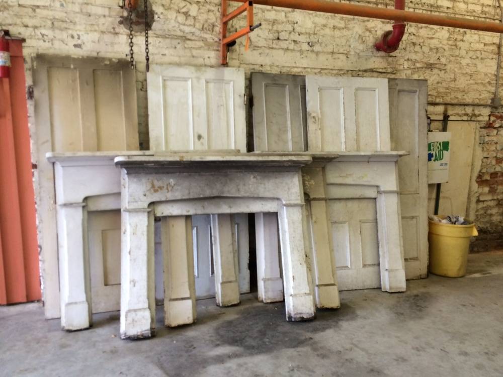 Antique mantels and doors