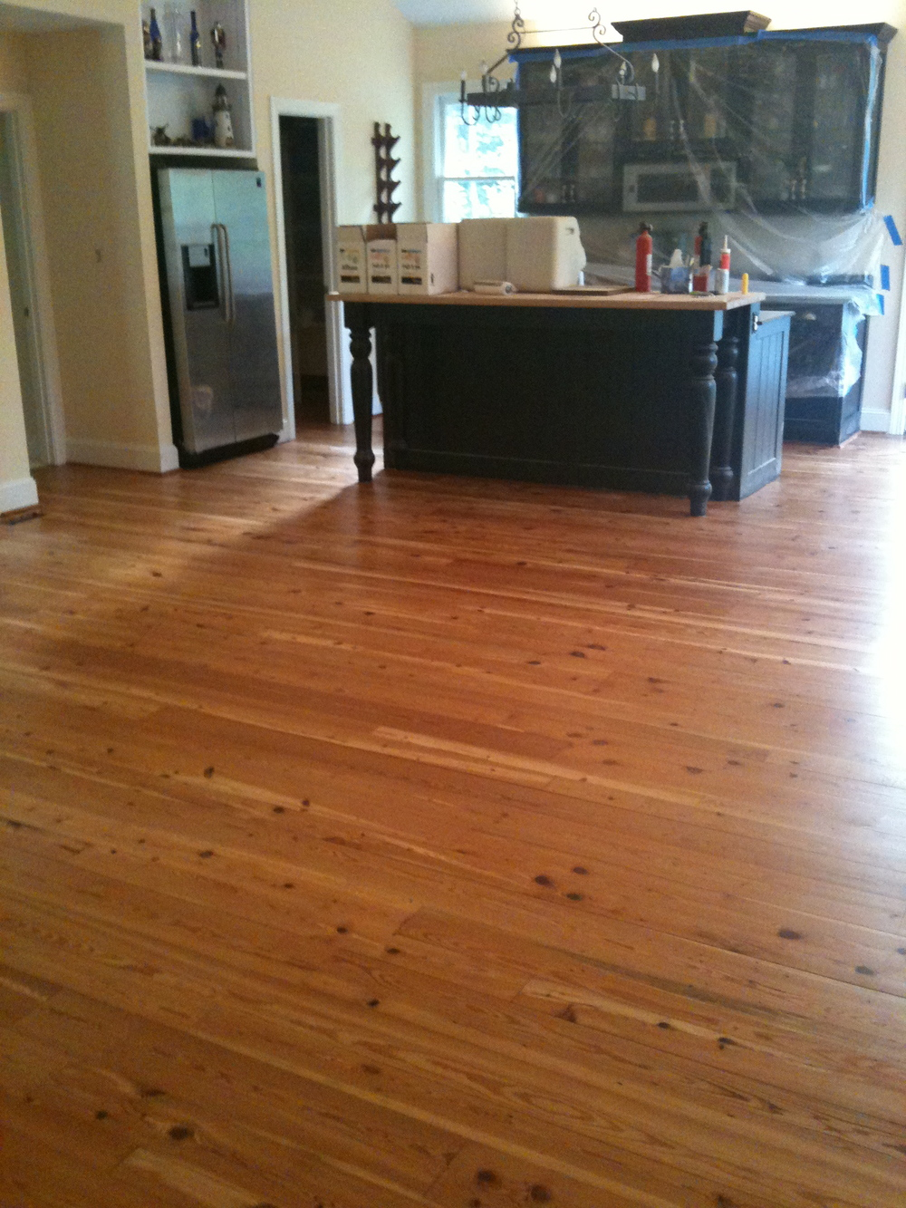 Plain Sawn Antique Heart Pine