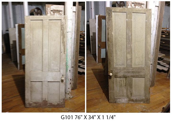 Reclaimed four panel antique doorReclaimed four panel antique door