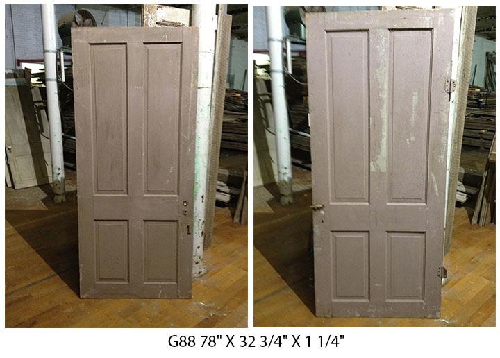 Reclaimed four panel antique door