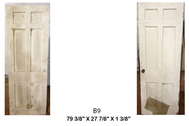 6 Panel Antique Door