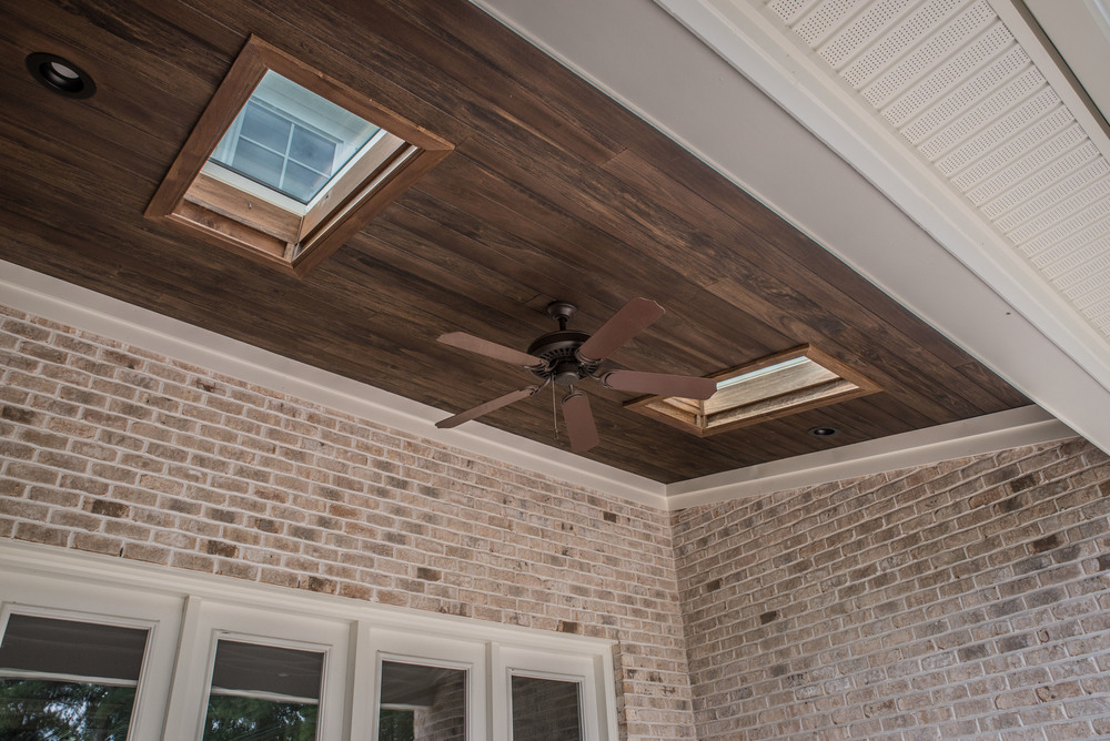 Engineered Walnut Ceiling Panelling