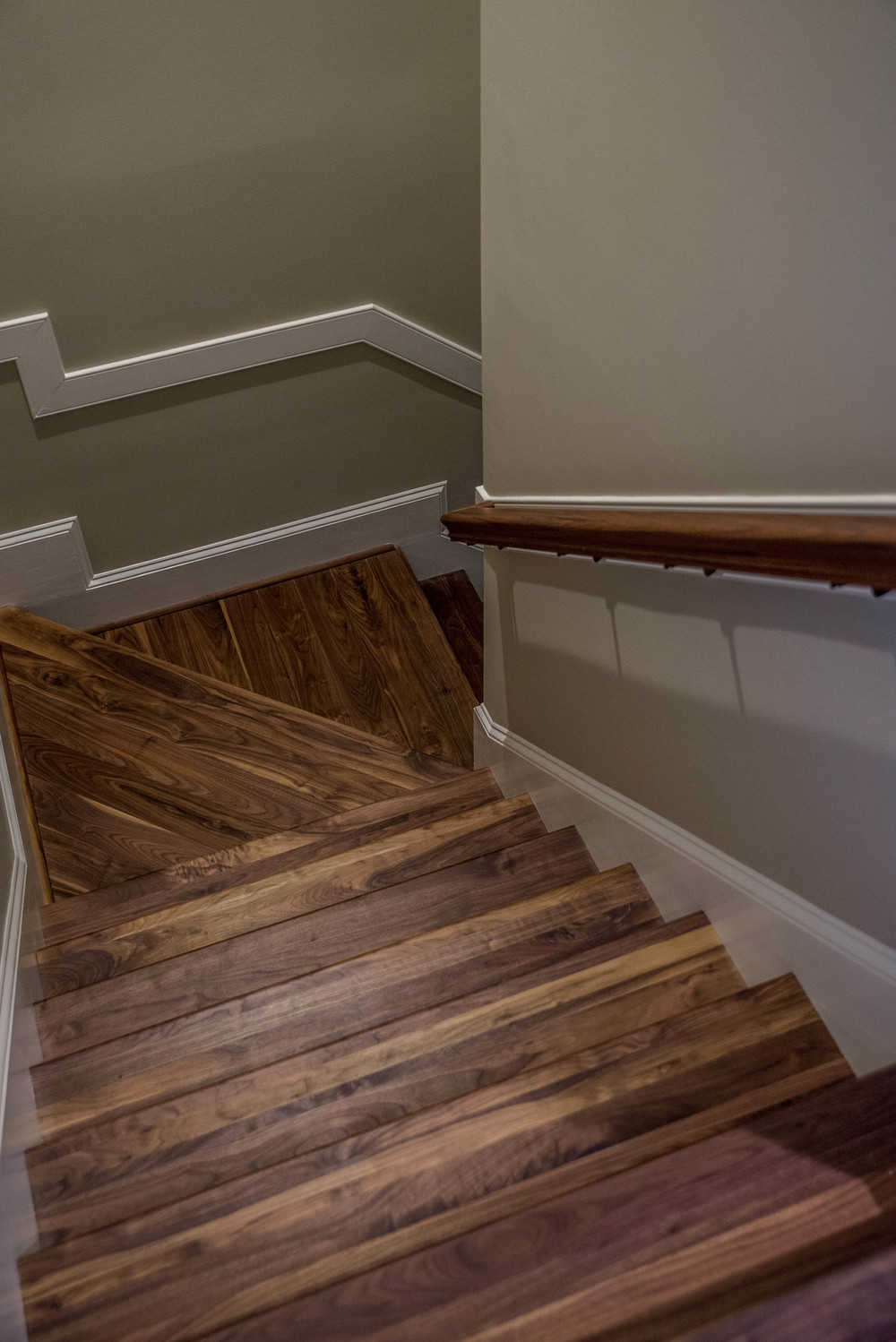 Custom Walnut Stair Parts