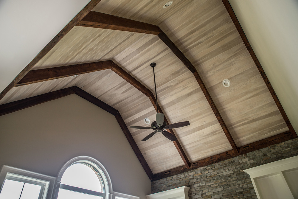 Antique Mantle Beams and Ceiling Panelling