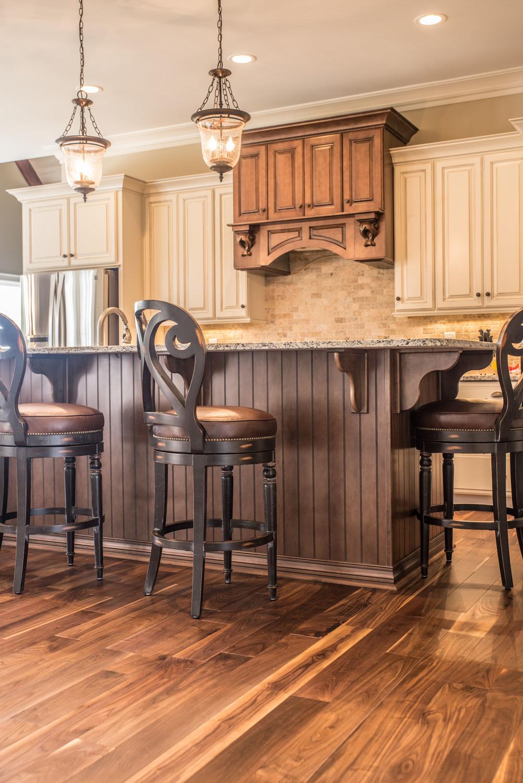 Custom Walnut Kitchen Flooring