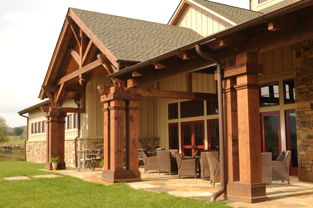 Heavy Timber Entry Canopy and Porch by Triton