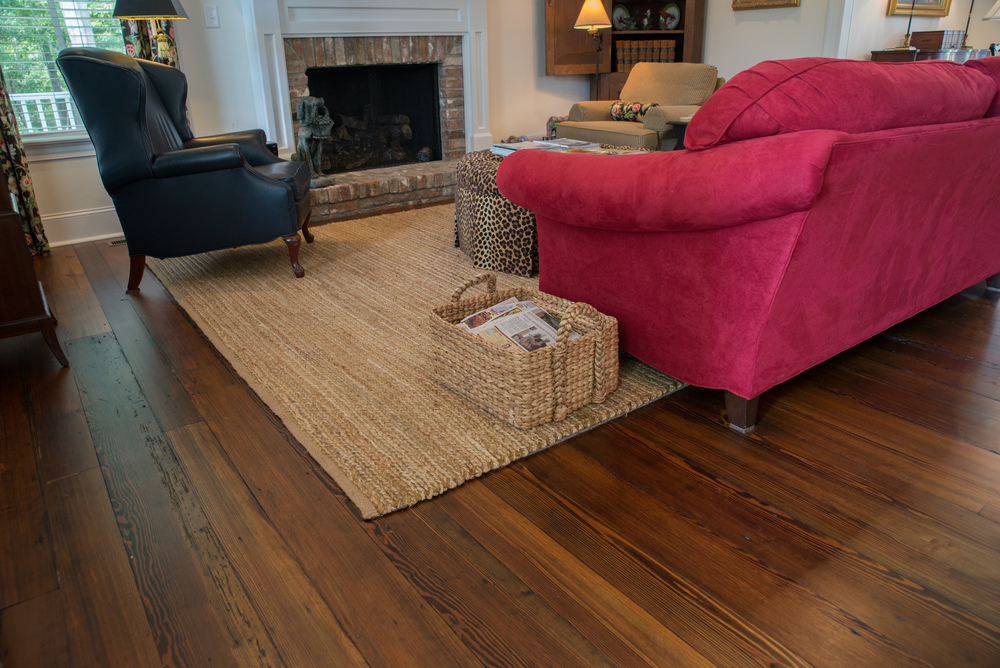 Old Original Antique Heart Pine Flooring