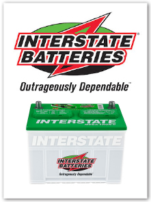 Rely on Interstate Batteries for your car, truck or boat.