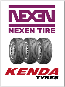 We stock top quality tires by Nexen and Kenda.