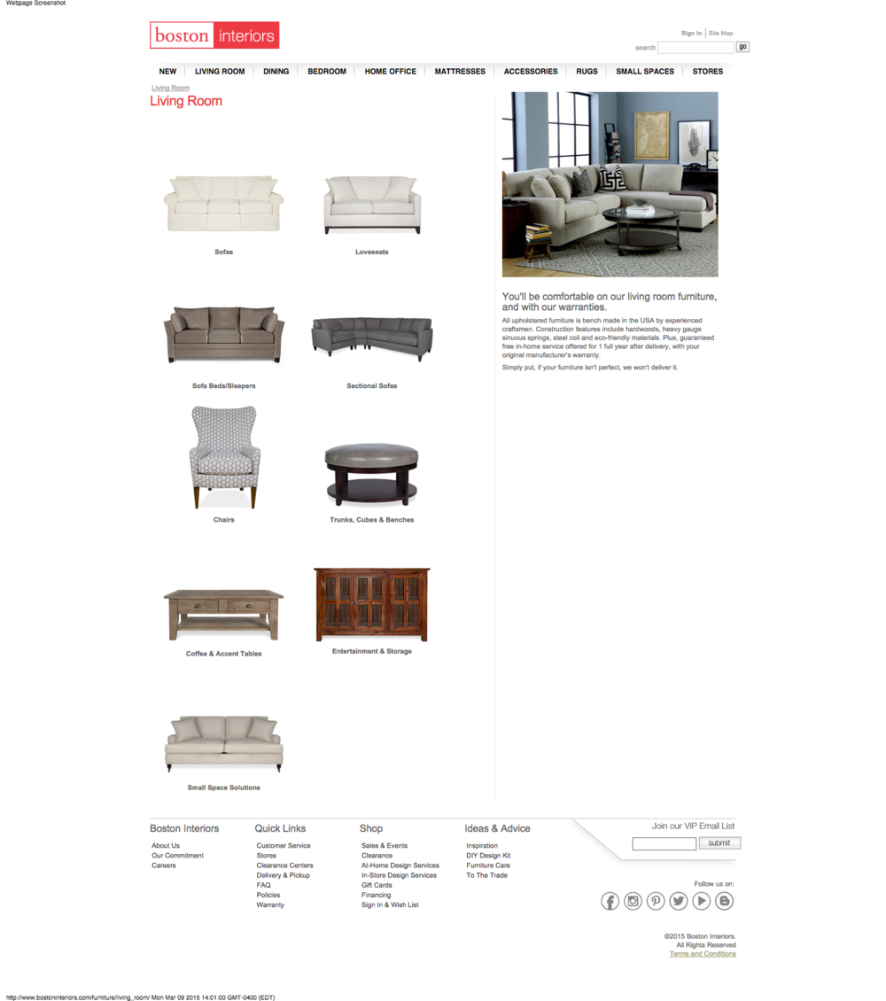 Living Room Furniture Boston Interiors MA 7 Area Store Locations
