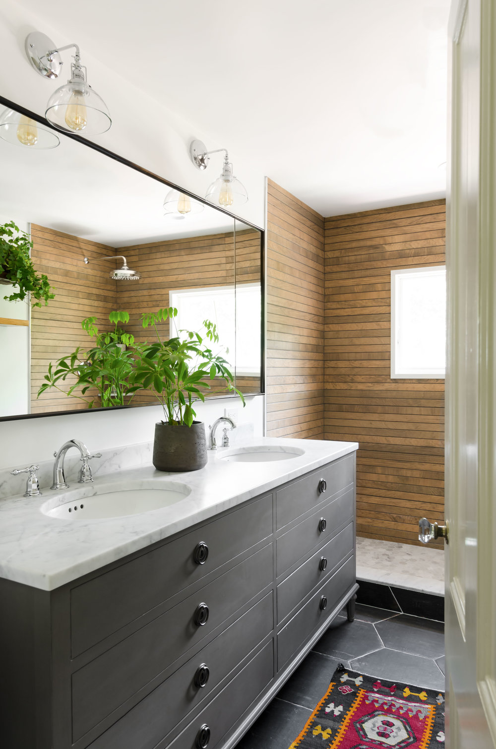 Jamaica Plain, MA -- Historic JP Manor bathroom remodels, built-ins and storage solutions