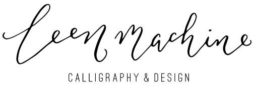 Leen Machine Calligraphy Design