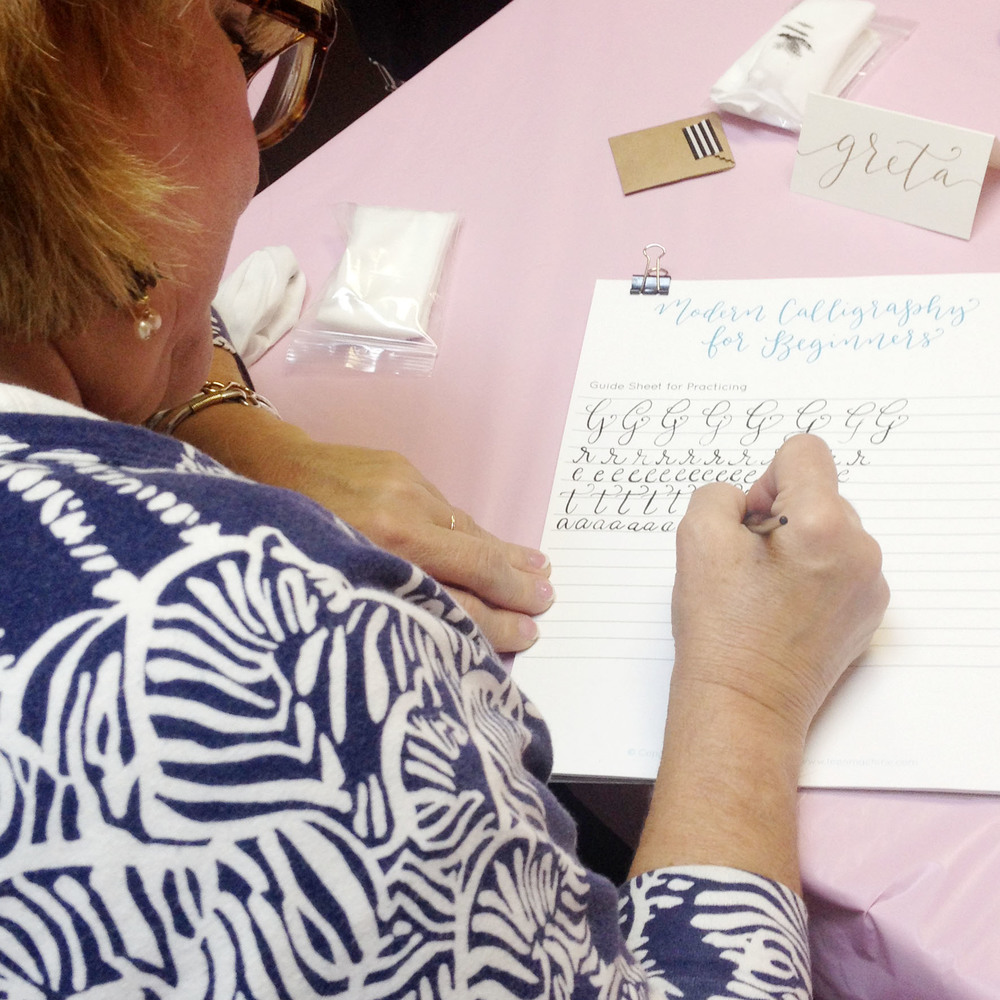learn modern calligraphy workshop class columbia south carolina, blush boutique and home lexington south carolina.jpg