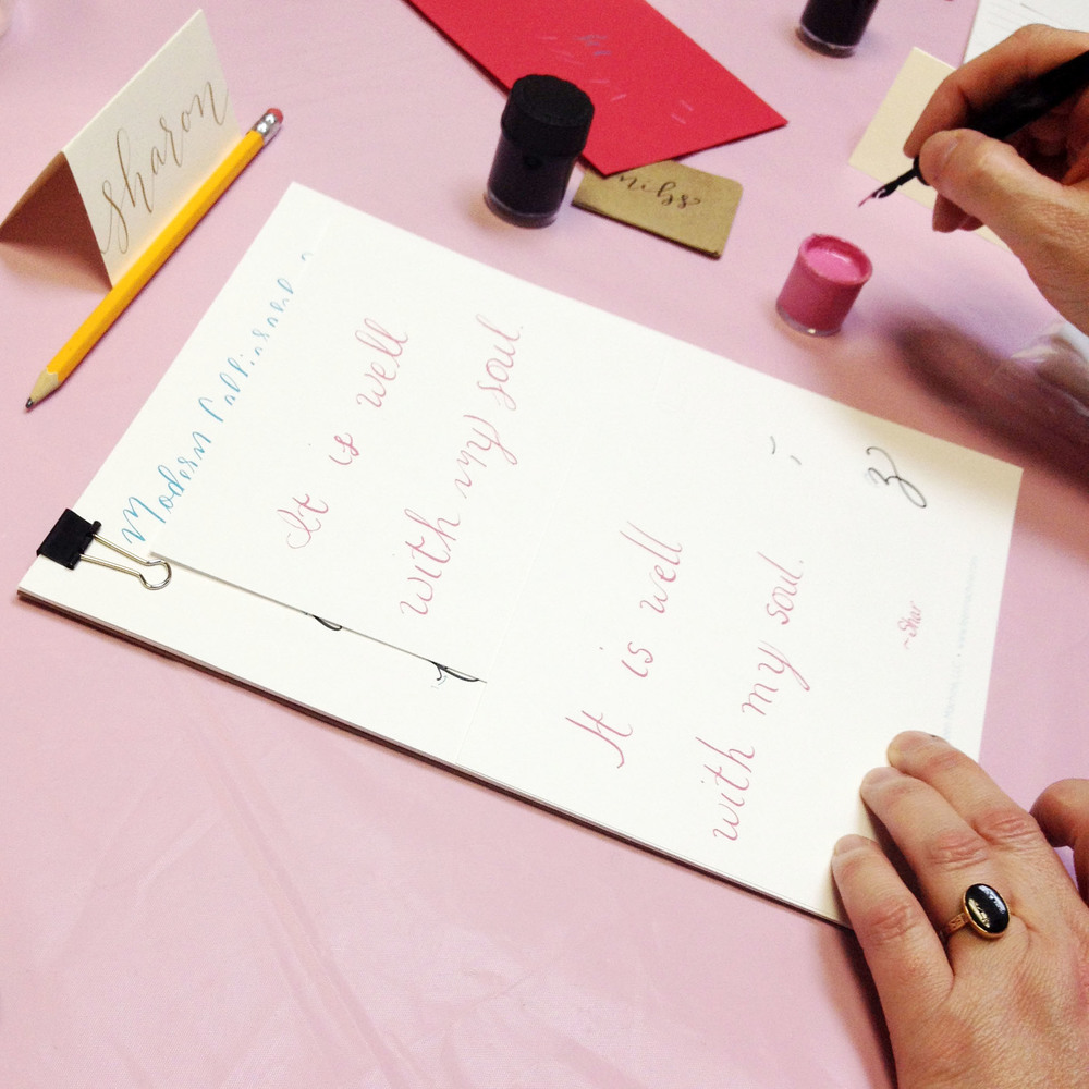 learn modern calligraphy workshop class columbia south carolina, lexington south carolina 2.jpg