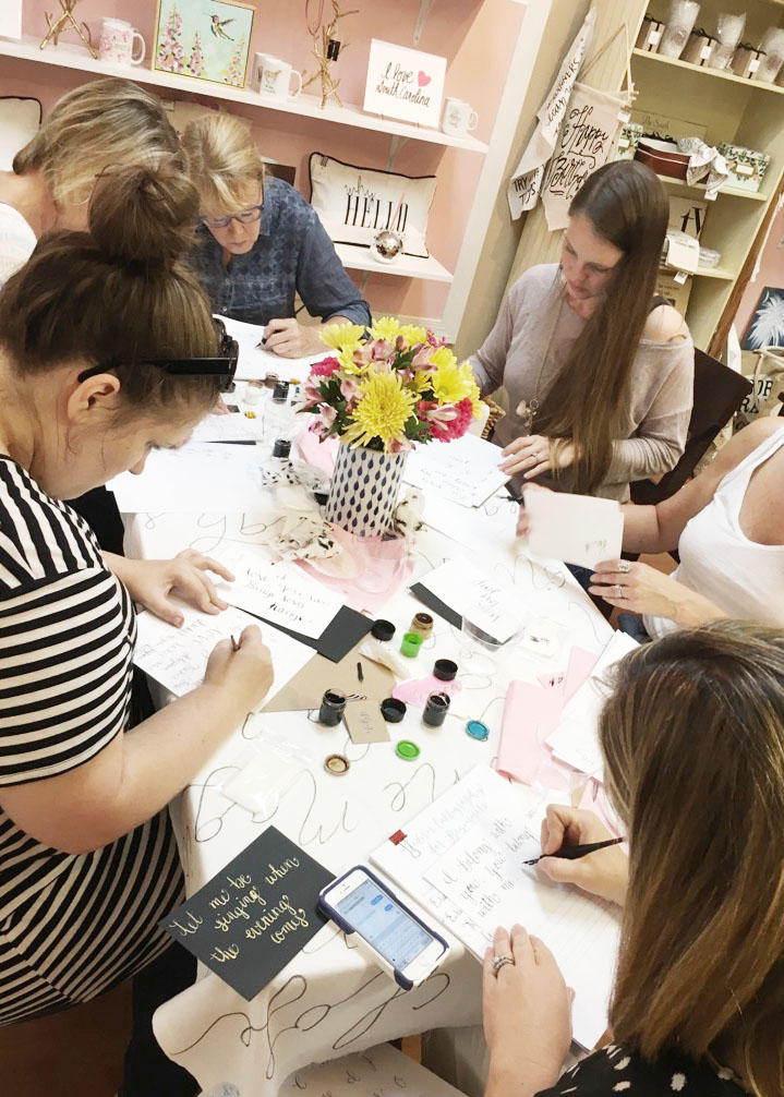 learn calligraphy, calligraphy class, calligraphy workshop, columbia south carolina, lexington  sc, charleston sc, greeville, sc_ sept 2016_3.JPG